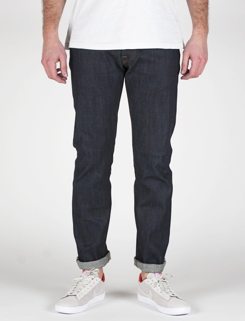 ED-55 RELAXED TAPERED WHITE LISTED INDIGO DENIM 12.5 OZ BLU