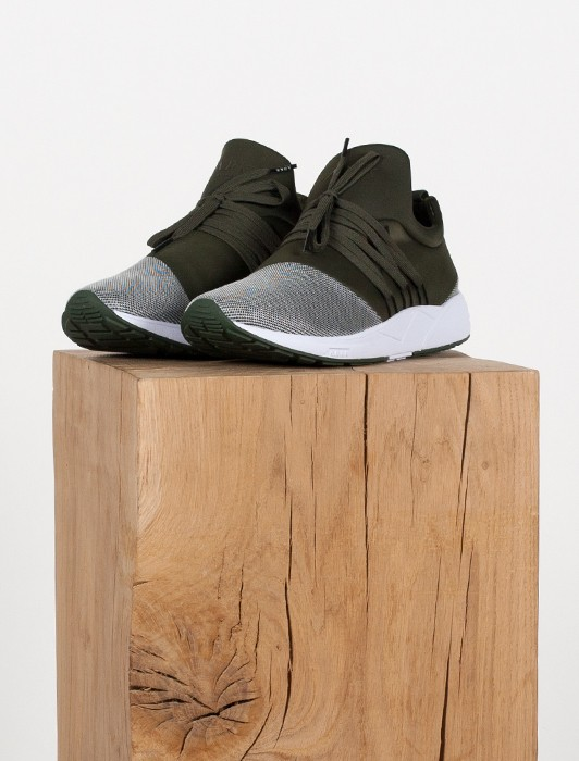 RAVEN DUSTY OLIVE SILVER MESH WMNS