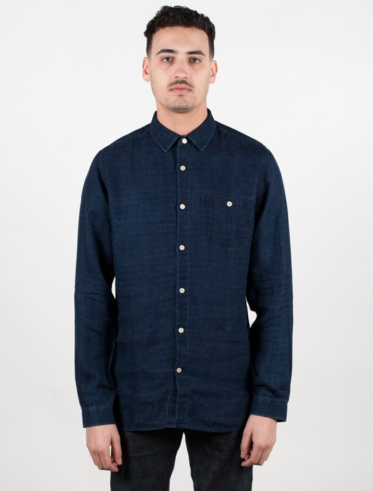 DENIM LOOK LINEN SHIRT