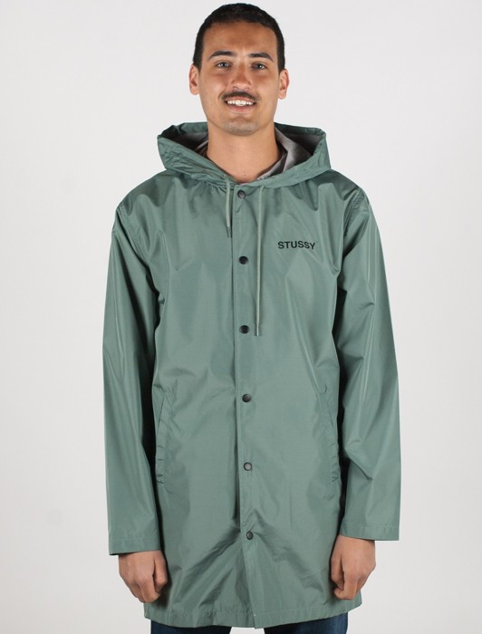 LONG HOODED COACH JACKET
