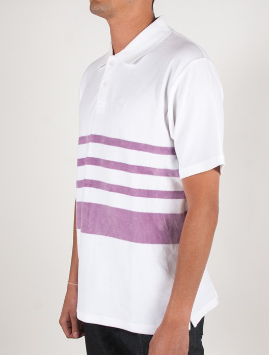 VELOUR STRIPE POLO