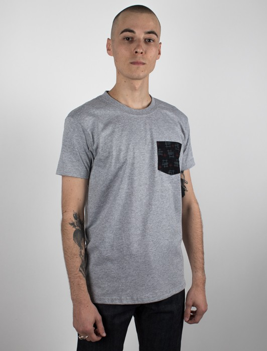 POCKET TEE - HEATHER GREY - KIMONO