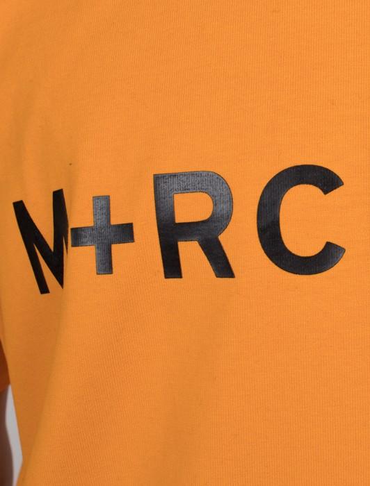M+RC NOIR ORANGE AMBRE FRONT LOGO