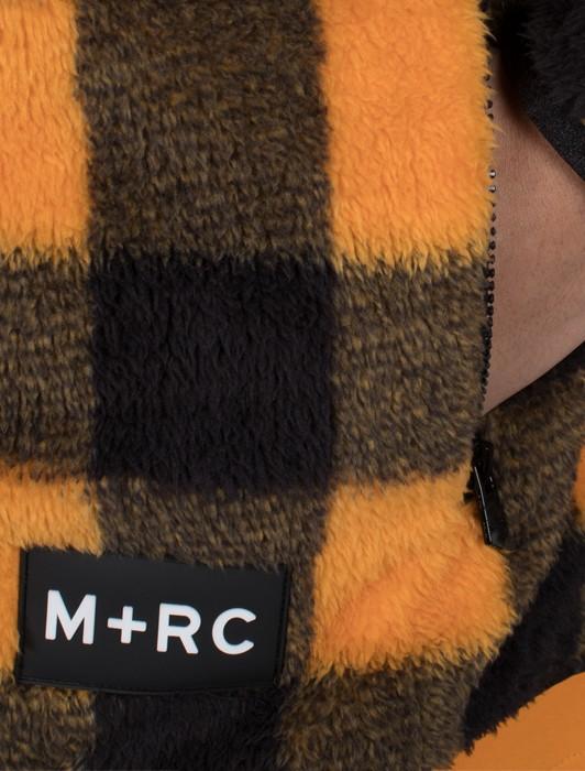 M+RC NOIR SOFT FLEECE ORANGE CHECK JACKET