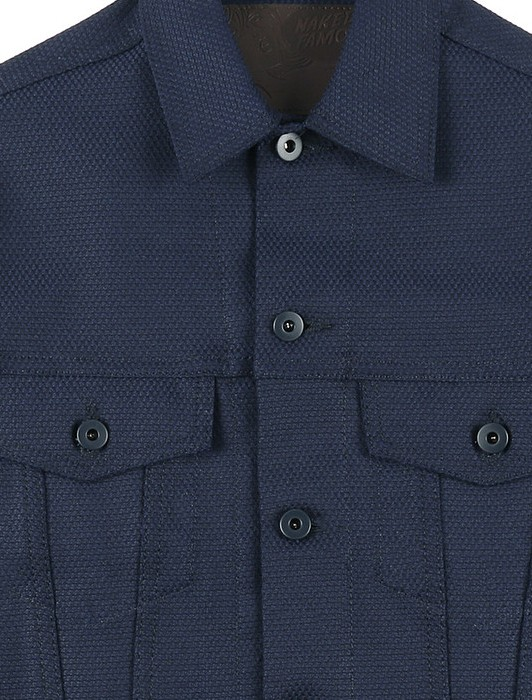 DENIM JACKET STRETCH SASHIKO
